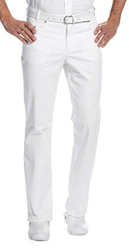Herren Hose Praxis (clinicfashion 12013006 Jeans Arzthose Herren weiß, Langgröße, Baumwolle Stretch, Größe 102)