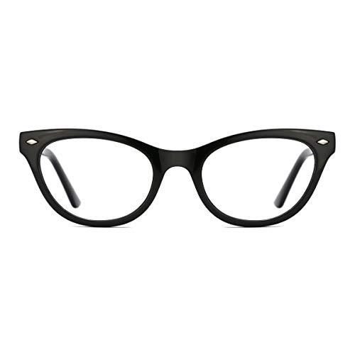 TIJN Damen Mode Klassisch Cateye Brille ohne Stärke Klare Linse Brillen Rahmen