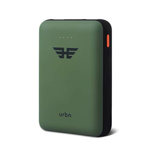 URBN 10000 mAh Li-Polymer Heroes Power Bank with 2.1 Amp Fast Charge and Ultra Compact Slim Body with BIS Certification - (Camo)