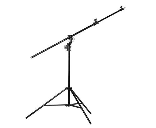 Jinbei M-3 Profi Galgenstativ - rotierbares Dreibein Aluminium-Lampenstativ 137cm bis 492cm - Boom Stand