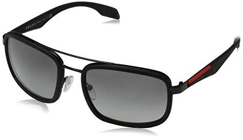 Prada Sport Herren 0PS03SS VHG5M2 56 Sonnenbrille, Blau (Bluette Rubber/Light Green Blue),