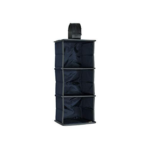 Meori Hängeorganizer 3er für Mini Faltboxen Marine Blau 19x17,5x45cm Garderobe Kleiderstange...