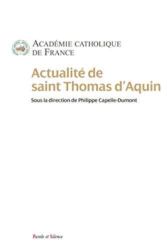 Actualité de Thomas d'Aquin