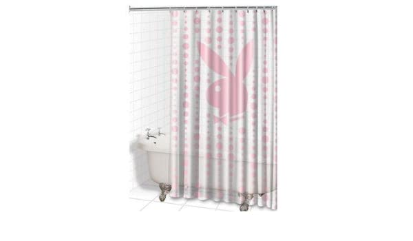 Playboy Shower Curtain 180 X Cm Single Colour With 12 Rings Amazoncouk Kitchen Home