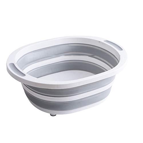 FNCUR High-End-Reiseartikel PP + TPR-Material Hochwertiges Druckwasserbecken Faltbares tragbares Waschbecken Babywaschbecken Heimgebrauch
