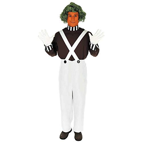 Oompa Loompa Willy Wonka Kostüm - Fun Shack Herren Costume Kostüm, Mens