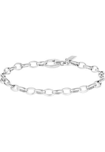 JETTE Charms Damen-Armband für Charms CHARM 925er Silber rhodiniert silber, One Size