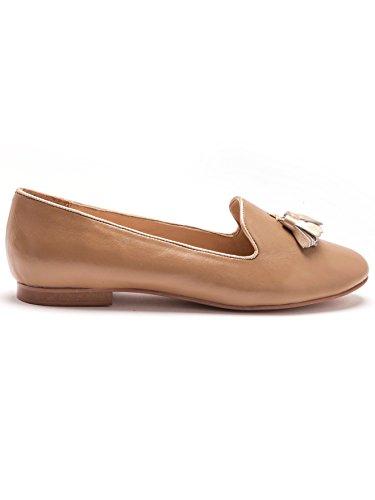 Di Beige Pelle Donna Pantofole Balsamik Larghezza Larghe Di Oro wqUt0Et