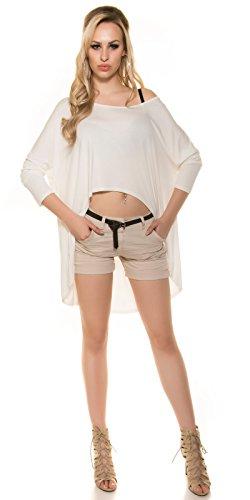 In-Stylefashion - Sweat-shirt - Femme blanc ivoire taille unique Ivoire