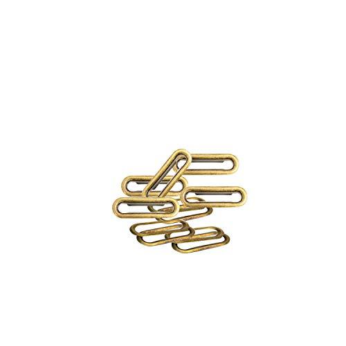Weddecor oval geformt mit Eyelets Kabeldurchführung mit Unterlegscheiben, Stoff, Leder, Gürtel Handtasche, mit Schnallen, Kunst und Handwerk (Bronze), metall, 30mm-bronze, 50
