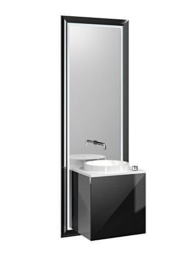 Türgriff Emco (emco touch pure Waschplatz, 45 cm Rahmen Schwarz, Front Schwarz, Griff links)