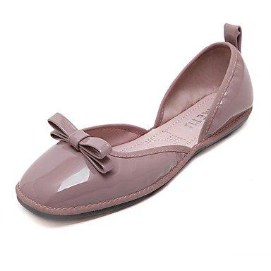 Confortevole ed elegante piatto scarpe donna Appartamenti Primavera / Estate / Autunno punta quadrata / Appartamenti Casual tacco piatto BowknotWalking Purple