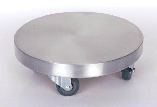 Möbelroller / Pflanzenroller (Profi) Ø 30 cm, ALU, 150kg, PU-Rolle, Marke: Szagato, Made in Germany (Design-Pflanzenroller Transportroller Rollbrett)