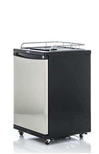 Fassbierkühlschrank für max 50l Fässer auf Rollen mit Tropfblech und Reiling