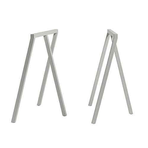 Hay Tischböcke Loop Stand Frame 2er-Set grau H 72cm