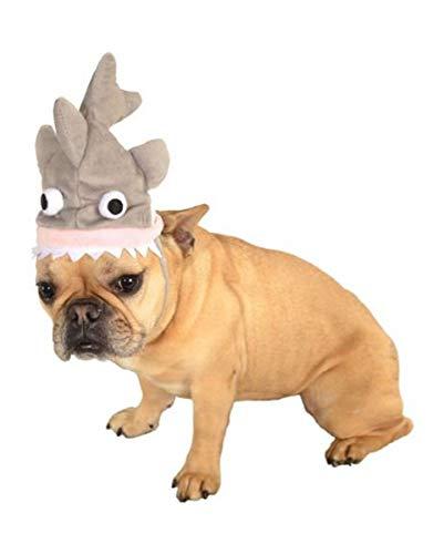 Horror-Shop Hundekostüm Haifisch Hütchen für Haustiere M/L (Boxer Dog Kostüm)