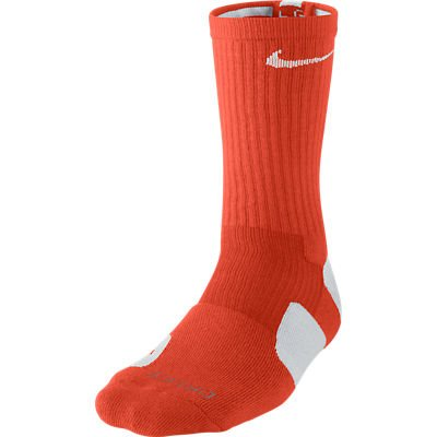 NIKE Crew Chaussettes Hyper Elite Basketball, Homme, Team Orange/White/White, m