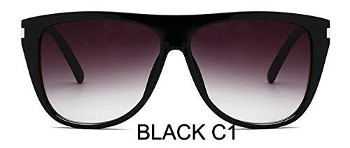 LKVNHP Italien Luxury Brand Übergroße Quadratische Sonnenbrille Frauen Markendesigner Retro Rahmen Sonnenbrille Für Frauen Trendy Große Oculositaly Luxury Brand Übergroße Quadratische Sonnenbrille Fr