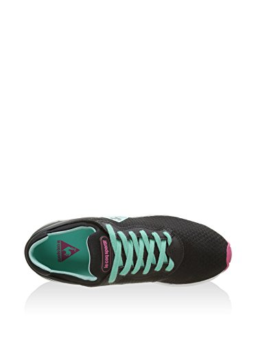 Le Coq Sportif - Lcs R Xvi W Feminine Mesh, Scarpe sportive Donna Nero (Negro / Verde Agua)