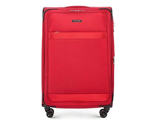 WITTCHEN Großer Koffer Trolley Koffer Reisekoffer   Rot   79x30x50   Kapazität: 92L   Gewicht: 4.1kg 56-3S-583-30 -