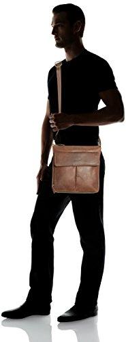 PACKENGER Horik Messenger Bag, Unisex aus Echtleder in Vintage-Braun.   ca. 32x31x8cm Vintage-Braun