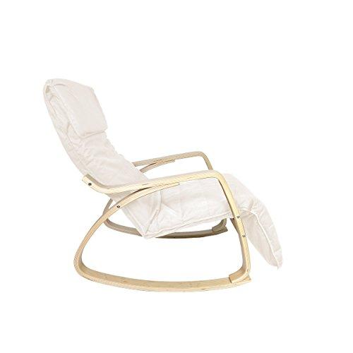 Mari-Home-Melton-Sedia-a-dondolo-e-poltrona-comoda-e-rilassante-cotone-lavabile-con-cuscino-e-poggiapiedi-regolabile-colore-Bianco