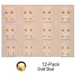 Studex Sterilized Piercing Earrings * Ear Stud * Reg. * Gold * Studs * 12 Pair Individually Packaged