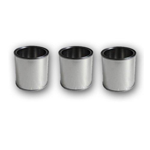3 Boîtes pour carburant en fer-blanc 0,25 litre pour le bioéthanol + couverclee