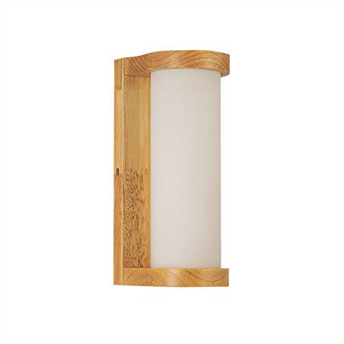 ZhZhCo Semplice E Moderna Sala Ha Condotto Il Soggiorno Balcone Luci Legno Parete Lampada Lampada Da Comodino Camera Da Letto Idee Solide (Lunghezza: 11:00 Cm)