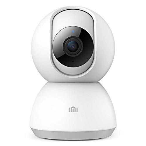 IMI 1080P WLAN Kamera mit Nachtsicht,Überwachungskamera IP Kamera Indoor WLAN, Smart Home WiFi Kamera,Bewegungsmelder,2-Way Audio,Unterstützt Fernalarm, Weiß - Dc Smart Adapter