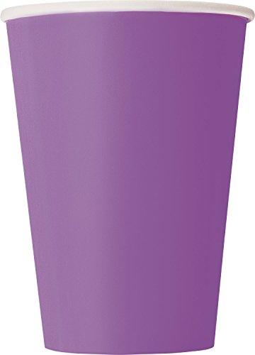 Unique Party Paquete de 10 vasos de papel Color morado 355 ml 34482