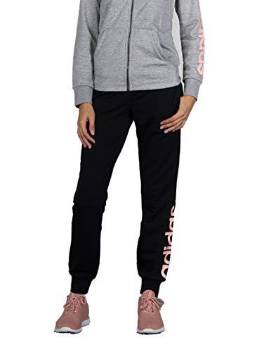 adidas Damen Essentials Linear Hose Black/Haze Coral S