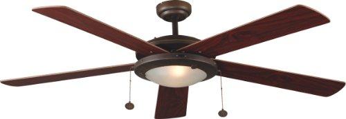 Ventilador de techo con luz MANILA FARO 33192 5 palas marrón MDF...