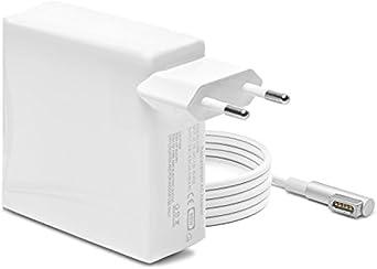 iProtect Ladegerät Netzteil 85 Watt für Apple MacBook mit MagSafe 1,5 Meter-Kabel Netzanschluss Weiß