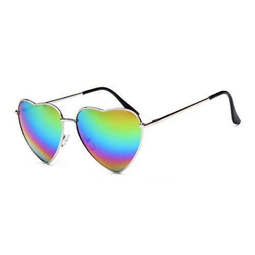 DEER HOUSE Damen Sonnenbrille, Retro-Stil, verspiegelt, UV400, Elastizität, Bein, Metall, Sonnenbrille, modisch, Vintage Gr. Einheitsgröße, a1
