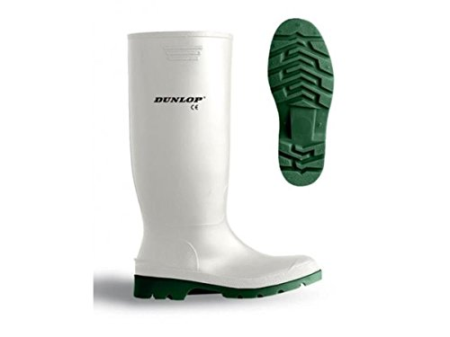Dunlop Proto Mastor White Rubber Work Boots with Steel Toe Cap 171BV