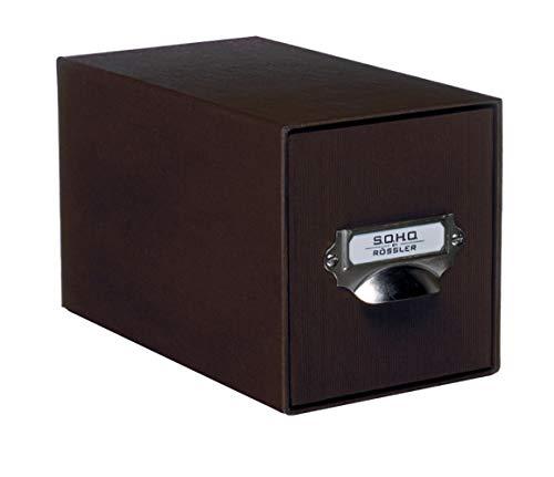 Rössler Papier 1327452870, Aufbewahrungs CD-Schubladenbox, Unifarben espresso