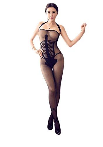 HIIH Sexy Lingerie Pigiameria Abito Intimo Pigiameria Donne ,black