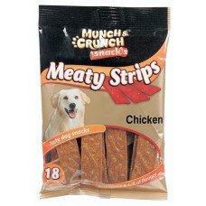 36 Munch & Crunch Meaty Strips Chicken Flavour /2 Packs Of 18