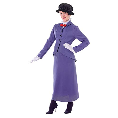 English nanny ladies book character fancy dress Costume (Dragon Lady Red Kostüm)