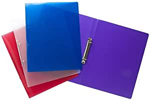 Tiger A4 slim 15mm ringbinder in assorted colours x 1 single folder