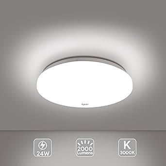 led deckenleuchte modern deckenlampe 24w warm wei 3000k 30cm 2000lm 120 aglaia led. Black Bedroom Furniture Sets. Home Design Ideas