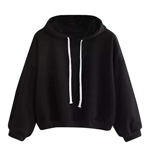 Spriteman Mode Solide Hoodie Sweatshirt Damen Herbst Winter Solide mit Kapuze Sweatshirt Outwear...