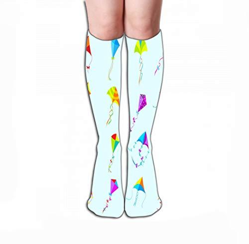 GHEDPO Hohe Socken High Socks Novelty Compression Long Socks for Men's Women and Girls 19.7