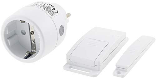 Funk Abluft-Steuerung mit Magnet Kontaktschalter und Funk-Steckdose 230V I Universal einsetzbar I Weiß