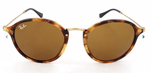 Ray Ban Herren Sonnenbrille Round Fleck, Mehrfarbig (Gestell (Havana),Gläser: braun 1160), Medium (Herstellergröße: 52)
