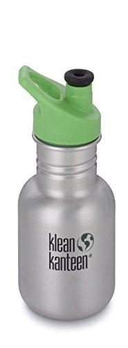 Klean Kanteen Edelstahl Kinderflasche mit Sport Cap 355 ml, Brushed Stainless, 8020007 Aluminium-gläser