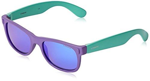 Polaroid p0115 mf rhd 46 occhiali da sole, rettangolari, polarizzate, 46, purple turqise/purple