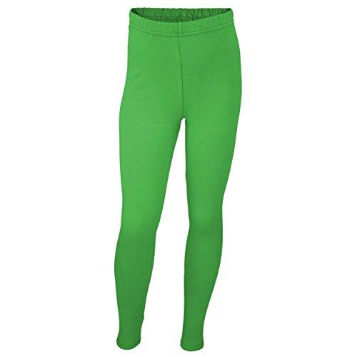 ings Lang Blickdicht Baumwolle , Farbe: Grün, Größe: 146 (Grüne Leggings Kinder)