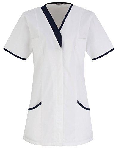 Premier Daisy Gesundheitswesen Tunika - 4 - White/ Navy - UK 24 / US 20 / EU 52 (Navy Daisy)